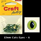 Craft Factory Toy Cats Eyes for Crafts 12mm