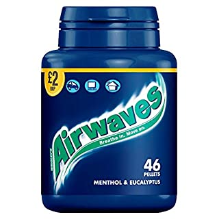 Airwaves Menthol & Eucalyptus 46 Pieces 64g (Pack of 6 x 46pce)