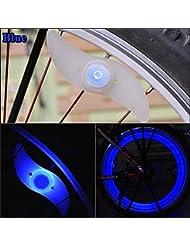 ma-on 4pcs colorido bicicleta Ciclismo Rueda de Coche Spoke alambre de neumáticos neumático LED luz