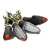 indicatori di direzione - TOOGOO(R)4x 12V 14 LED Luci Indicatori Direzione Frecce Omologate Segnale Ambra Moto