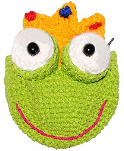 (Frosch - mit Krone  - 3-D Geldbörse / Utensilo / Geldbeutel / Portemonnaie - echte Handarbeit - Aufbewahrungstasche für Kinder / Erwachsene - kleines Täsch..)