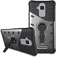 Custodia Asus Zenfone 3 Max ZC520TL Case, Viflykoo HEAVY DUTY Custodia Protettiva Rigida con Supporto Rotazione di 360 Gradi Cover per Asus Zenfone 3 Max ZC520TL Smartphone - Grigio