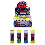 12 Tubs Of Spiderman Bubbles With Puzzle Top - Party Bag Toys (HL330)