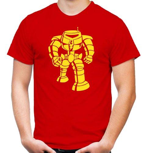 Sheldon Roboter T-Shirt | Big Bang Theory | Bazinga | Geek | Sheldon | Serie | Penny | Fun | Männer | Herrn Rot