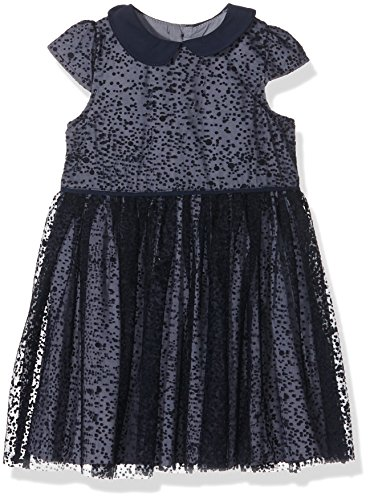 mamas-papas-baby-girls-mamas-papas-flocking-spot-navy-short-sleeve-dress-blue-navy-2-3-years