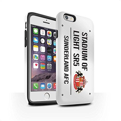 Offiziell Sunderland AFC Hülle / Matte Harten Stoßfest Case für Apple iPhone 6 / Schwarz/Weiß Muster / SAFC Stadium of Light Zeichen Kollektion Weiß/Schwarz