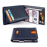 ZNT Wallets for Men Slim Money Clip Wallet RFID Blocking Bifold Wallet
