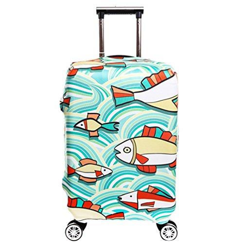 YiJee Covers Koffer Mit Trendigen Drucken Elastic Abdeckung Für Beutel 18-32 Zoll Wie Das Bild 3 XL