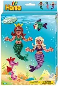 Hama - 3431 - Loisirs Créatifs - Boîte Perles à Repasser - Taille Midi - Les Sirènes