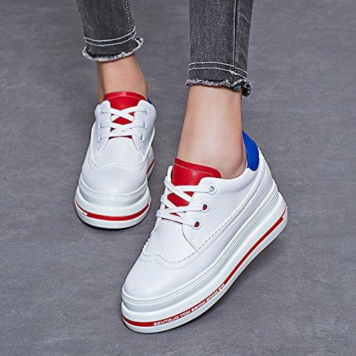 LvYuan Frauen weiße Schuhe / Lackleder / Büro & Karriere / flache Ferse / Comfort Outdoor Casual Mode / Flatform Schuhe / Walking Sneakers 3#