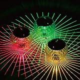 Chanli, luce solare galleggiante per laghetto, impermeabile, a LED, cambia colore, decorazione da giardino, piscina, con plastica ABS, per giardino, cortile, piscina, fontana
