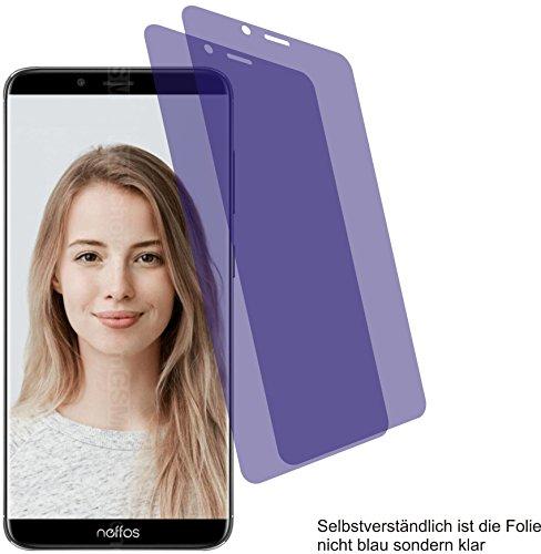 2X Crystal Clear klar Schutzfolie für TP-Link Neffos X9 Bildschirmschutzfolie Displayschutzfolie Schutzhülle Bildschirmschutz Bildschirmfolie Folie
