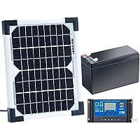 revolt Solarzelle mit Akku: Solarpanel (5 W) mit Ladewandler und Blei-Akku (Mini Solarpanel mit Akku)