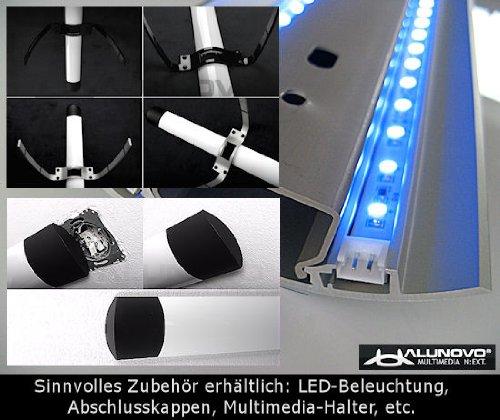 TV Design Aluminium Kabelkanal in schwarzmatt Feinstruktur lackiert in verschiedenen Längen von ALUNOVO (Länge: 20cm) - 6