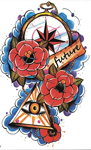Preisvergleich Produktbild 2er-Pack! Tattoo: future Abstrakt & Bunt Wie ein echtes! - Temporäre Tätowierung / temporary tattoo | Wie ein Henna / Mehndi temporäres Tattoo | Hält ca. eine Woche! | TattooInOneMinute | Einmal-Tattoos | temporary Tattoo | Fake Tattoos | Klebe-Tattoos | Abzieh-Tattoos | Flash-Tattoos...