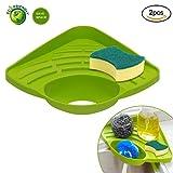 SwirlColor Spülbecken Caddy Schwammhalter Reinigungsbürste Halter Grün Waschbecken Organizer mit Schwamm (Halter + Schwamm)