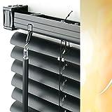 PVC / Kunststoff-Jalousie Breite 120 cm x 160 cm Höhe in Farbe 04 / schwarz / Jalousien Jalousette Jalousetten Plastik Standard 120x160 black