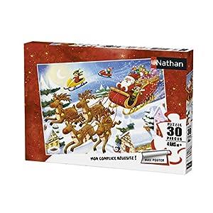 Nathan-Puzzle de Papá Noel 30Piezas Tournée du, 86364