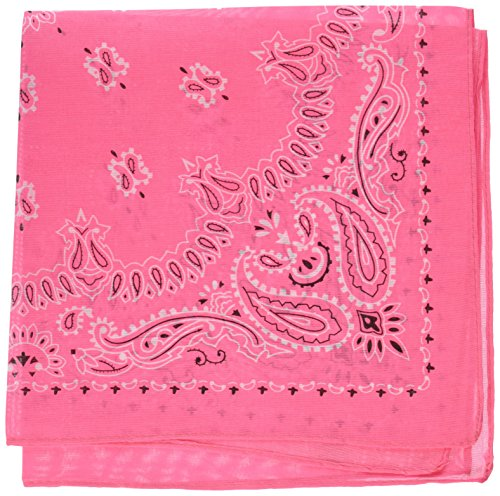 48,3 cm Neon Pink Bandana (1 Dutzend) (Rosa Bandana Party Supplies)