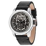 Police Herren Datum klassisch Quarz Uhr mit Leder Armband 14385JS/57