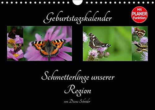 Geburtstagskalender Schmetterlinge unserer Region (Wandkalender 2019 DIN A4 quer): Schmetterlinge nach Arten benannt (Geburtstagskalender, 14 Seiten ) (CALVENDO Wissen)