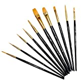 Paint Brushes Set Professional Paint Brush Round Pointed Tip Nylon Hair Artist Acrylic Brush for Acrylic Watercolor Oil Painting by Crafts 4 ALL