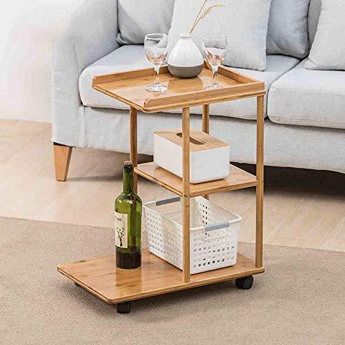 MU Haushalt Laptop Tisch Beistelltisch, Bambus Abnehmbar mit Ablage für Bett Sofa Essen Schreiben Lesen Wohnzimmer Klapptisch