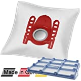10 DeClean Staubsaugerbeutel +1 Motorschutzfilter für Bosch BSGL51338/02 Free'e ProParquet