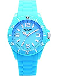 Cannibal Unisex Quartz Watch with Turquoise Dial Analogue Display and Turquoise Silicone Strap CJ209-13