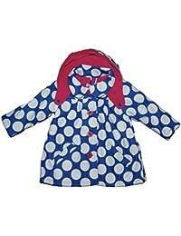 Girls Baby Hooded Coat Jacket Fleece Lining Outer Wear Blue 12-18 18-24 Months