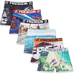 FREEGUN Boxer Packx6 Slip, Multicolore E5, Medium (Taille Fabricant:M) (Lot de 6 Homme