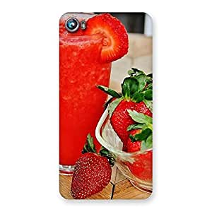 Cute Straberry Juice Multicolor Back Case Cover for Micromax Canvas Fire 4 A107