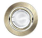 Einbaustrahler mit Energiesparlampe 9 Watt (Einbau-Leuchte, 1 Spot, warmweiß, brünierter Stahl, 9 cm)