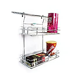 Heft Stainless Steel clothes Hanging hanger stand for bedroom Double Hanging Shelf Cloth Hanger Premium Heavy Duty Garment Rack Cloth Hanging Hanger Stainless Steel Single Clothes Rack Hanger