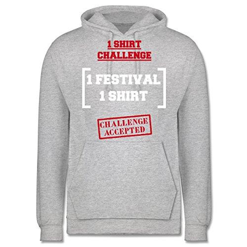 Festival - 1 Shirt Festival Challenge - Männer Premium Kapuzenpullover / Hoodie Grau Meliert