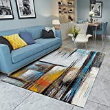 DAMENGXIANG Moderne Multicolor Abstrakte Heiße Stempel Teppich Für Wohnzimmer Couchtisch Schlafzimmer Rutschfeste Bodenmatte Wohnkultur Fuß Pad 40 × 60 cm