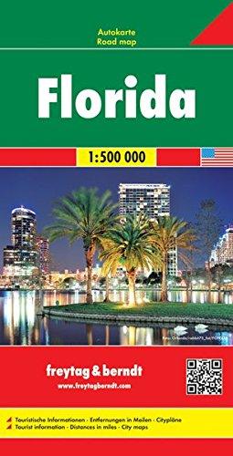 Florida, Autokarte 1:500.000: Wegenkaart 1:500 000 (freytag & berndt Auto + Freizeitkarten)