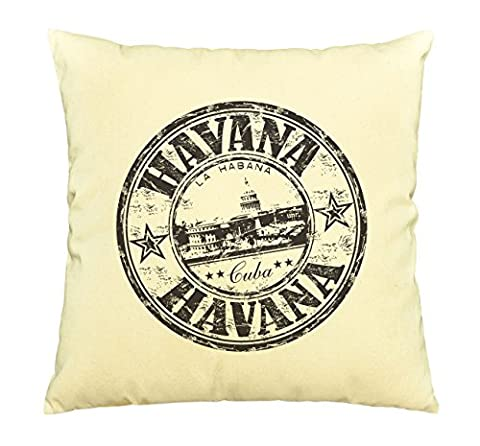 Havana - Cuba Printed Cotton Decorative Pillows Cover Cushion Case