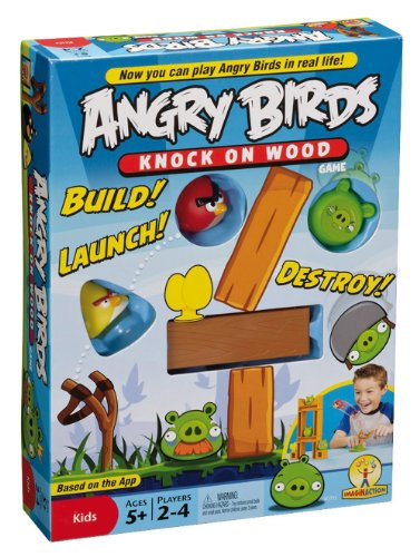 Mattel Games W2793 - Gioco da tavola Angry Birds - Knock On Wood