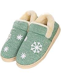 3e33fff4496f visionreast Winter Baumwolle Pantoffeln Plüsch Wärme Weiche Hausschuhe  Kuschelige Home Rutschfeste Slippers für Herren Damen mit
