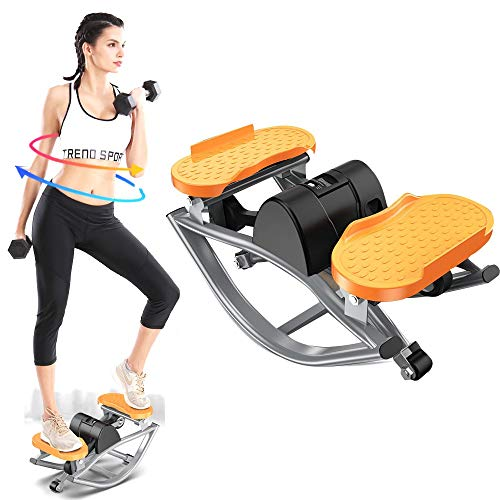 YxnGu Mini Stepper - Home Side Stepper Swing-Maschine für Aerobic-Training für zu Hause und im Büro - Übungspeddler für Physiotherapie/Körperübungen -