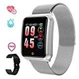GOKOO Montre Connectee Intelligente Homme Femme Smartwatch Sport Bracelet Connecté Étanche IP67 Écran Couleur Cardiofréquencemètre Cardio Fitness Tracker d'Activité pour iPhone Samsung Huawei