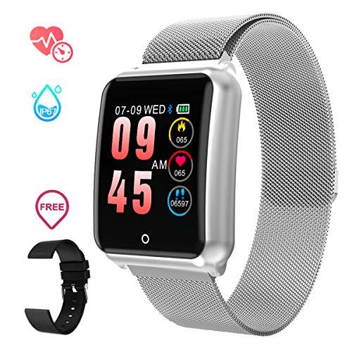Smartwatch Impermeabile Uomo,GOKOO Orologio Sportivo Uomo Donna Impermeabile IP67 Attività Tracker Cardiofrequenzimetro...