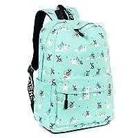 C-Xka Schoolbags Cute Deer Girls Backpack Campus Small Fresh Waterproof Backpack Shoulder Ridge Reduced Large Capacity Daypack Outdoor Travel Travel Rucksack Laptop Daypack (color : GREEN)
