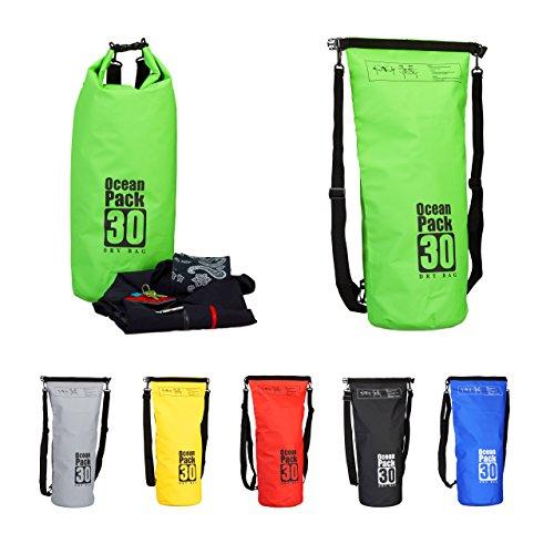 f52510d201 Caratteristiche ed informazioni su relaxdays zaino impermeabile ocean pack  30 l borsa stagna idrorepellente per valori dry bag leggera ...