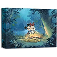 Family Campout- Limited edition Giclée on Canvas by Rob Kaz of Mickey, Minnie and Pluto - Disney Fine Art Canvas Wall Art Picture for Living Room Home Decorations