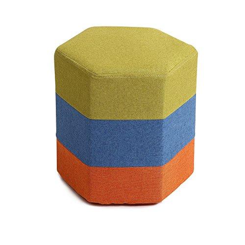 ZXQZ Repose-Pieds en Forme d'hexagone créatif/Tabouret de canapé en Tissu/Simple Changer Ses Chaussures Tabouret/canapé Tabouret (5 Couleurs Disponibles) Repose-Pieds de Stockage (Couleur : A)