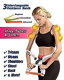 Alliswell Braccio ginnico, attrezzi per il braccio, allenamento per le braccia, braccio per il tono e sistema di resistenza al petto 3, braccia meravigliose, pesi per le braccia per donne e uomini