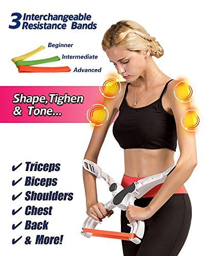 Alliswell Oberarm-Trainingsgerät, Arm-Trainingsgerät, Arm-Trainingsgerät, Tonarm und Brust 3 Widerstandsbandsystem, Wunderarme, Armgewichte für Frauen und Männer