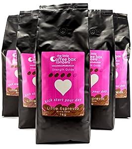 Little Box Espresso Coffee Beans 6X1kg - 100% Fresh Premium Dark Roast Beans